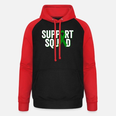 Cancer Survivor Support Squad | Liver Cancer Awareness - Unisex Baseball Hoodie