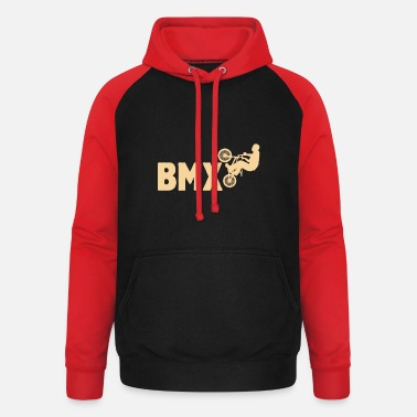 Ride-trip BMX Ride Freestyle Bicycle Cyclist Stunt Downhill - Unisex Baseball Hoodie