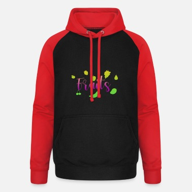 Fruit Fruits - fruits - Unisex Baseball Hoodie
