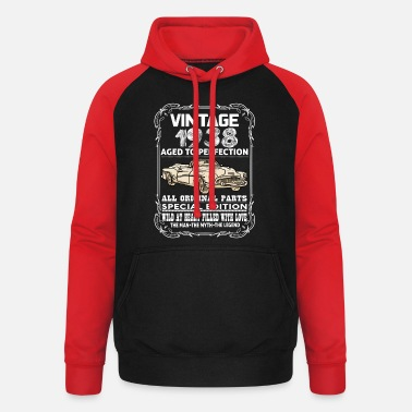 1938 VINTAGE 1938-AGED TO PERFECTION - Unisex Baseball Hoodie