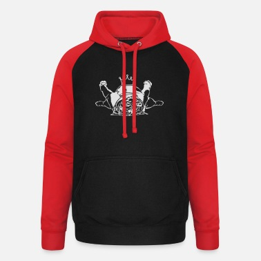 Hund Cool English Bulldog Krone Wilsigns Hund - Unisex Baseball Hoodie