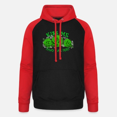 St Patrick's Day Kiss Me Today I am Irish - Unisex Baseball Hoodie