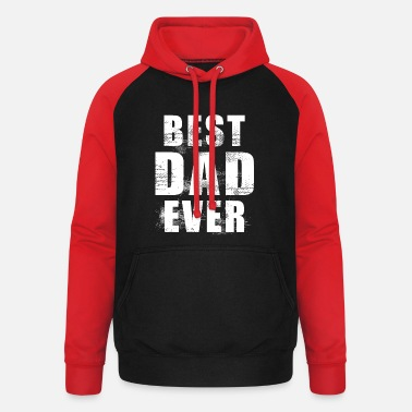 Grungy Dear Father Ever Father's Day Gift - Unisex Baseball Hoodie