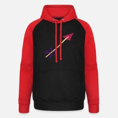 Stag Underwear Symbol - Shooting Arrow - Unisex Baseball Hoodie