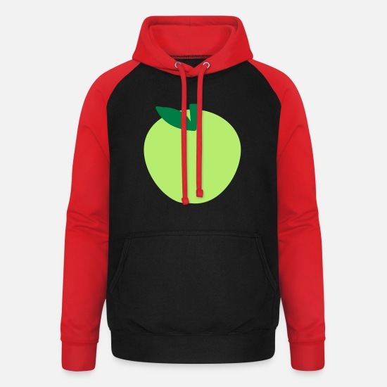 Apple Hoodies & Sweatshirts - Apple - Unisex Baseball Hoodie black/red