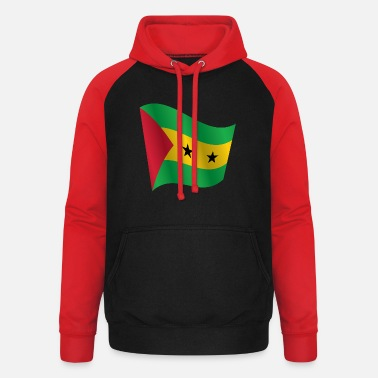 Sao Tome And Principe Waving Flag of Sao Tome and Principe - Unisex Baseball Hoodie