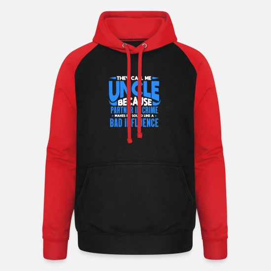 Uncle Hoodies & Sweatshirts - uncle - Unisex Baseball Hoodie black/red