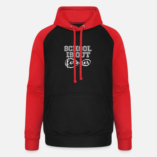 Gift Idea Hoodies & Sweatshirts - Closing ceremony - Unisex Baseball Hoodie black/red