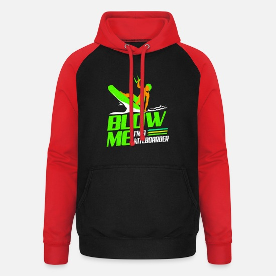 Aquatics Hoodies & Sweatshirts - Kiteboard - Unisex Baseball Hoodie black/red
