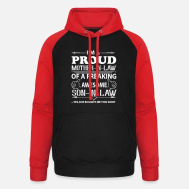 Mother I'm Proud mother in law - Unisex Baseball Hoodie