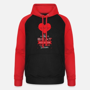 Bypass The Beat Goes On Heart Bypass Survivor - Bluza bejsbolowa unisex