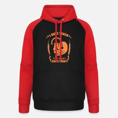 Calling Call Center - Telephone - Consultation - Call - Call - Unisex Baseball Hoodie