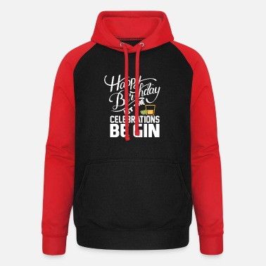Birthday GIN - Tonic - BE GIN - Happy Birthday - Citroenen - Unisex baseball hoodie