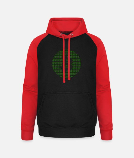 Btc Hoodies & Sweatshirts - Dollar Bitcoin - Unisex Baseball Hoodie black/red
