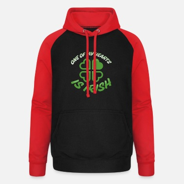 One of my hearts is Irish - Unisex Baseball Hoodie