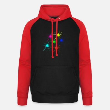 color blob colorful techno rave - Unisex Baseball Hoodie