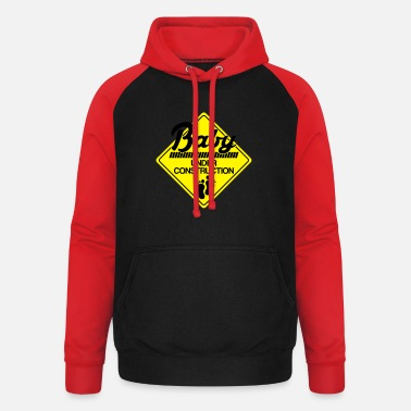 Baby Baby under construction - Unisex Baseball Hoodie