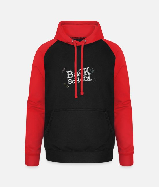 High School Graduate Hoodies & Sweatshirts - Abi school college gift anniversary graduation - Unisex Baseball Hoodie black/red