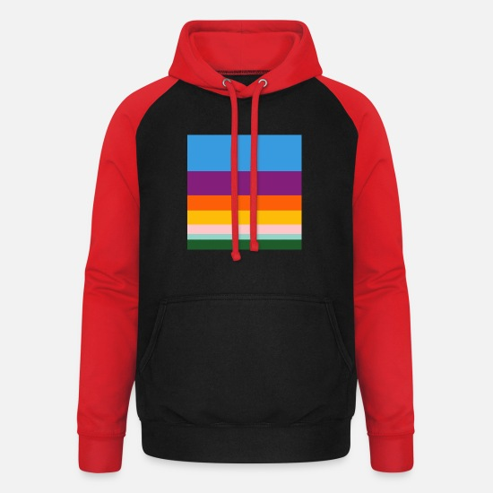 Fantasy Hoodies & Sweatshirts - Fantasy lines - Unisex Baseball Hoodie black/red