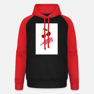 icecream and cherry - Unisex Baseball Hoodie
