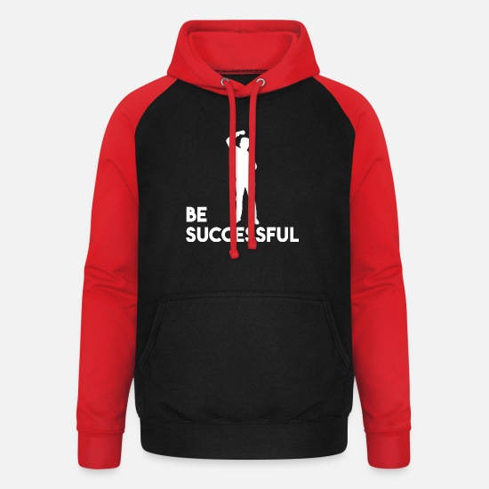 Gift Idea Hoodies & Sweatshirts - Be successful - Unisex Baseball Hoodie black/red