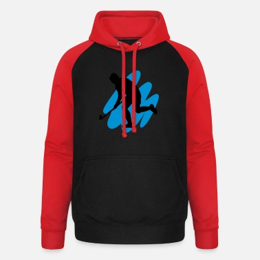 3d I Love Hockey Hockey Goes 3D - Unisex baseball hoodie