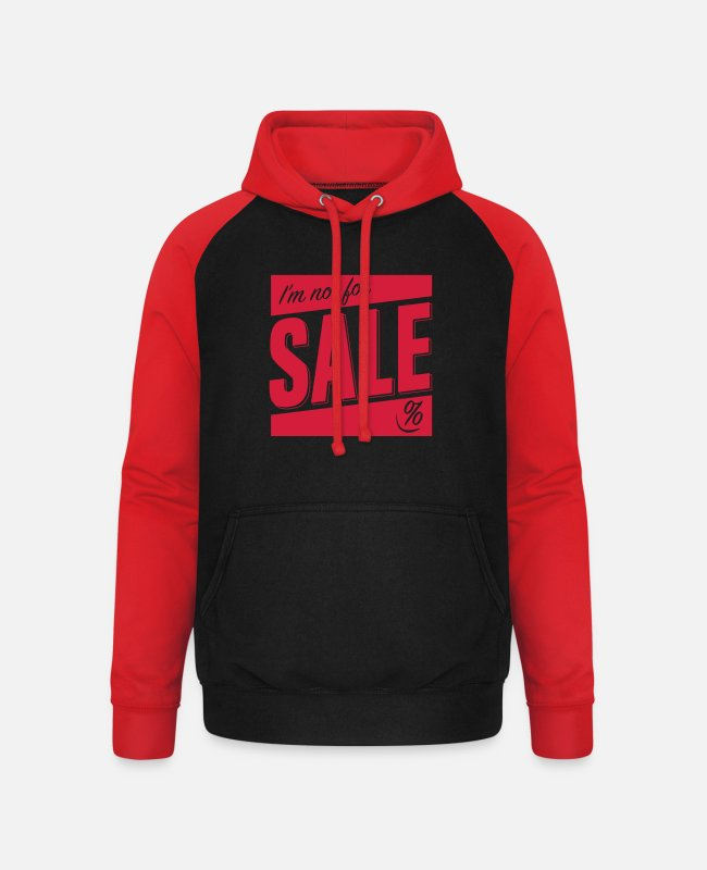 Sale Pullover & Hoodies - Not for Sale - Unisex Baseball Hoodie Schwarz/Rot