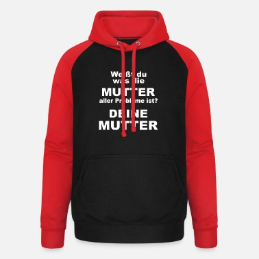Your mother saying mother joke - Unisex Baseball Hoodie