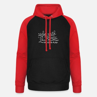 Wave Ride the wave - Unisex Baseball Hoodie