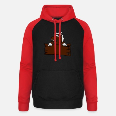 Holzschild holzschild funny comic cartoon horse wall shield t - Unisex Baseball Hoodie