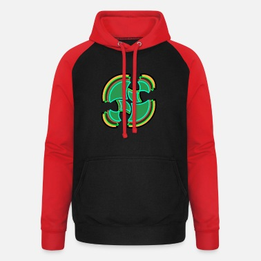 Bright green circle - Unisex Baseball Hoodie