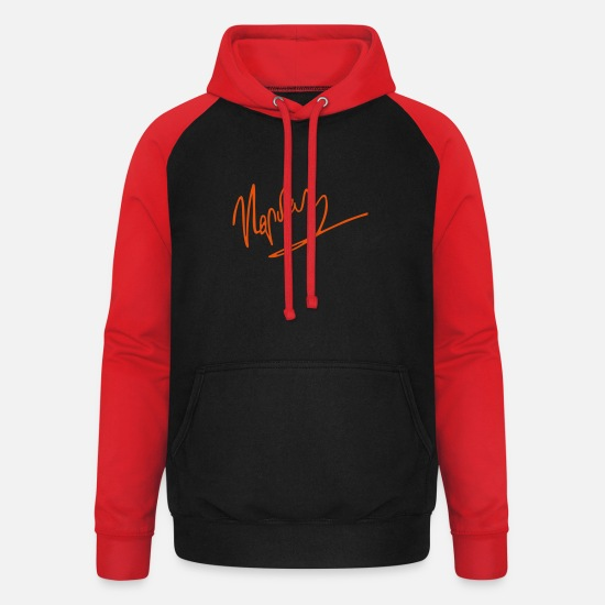 Signature Hoodies & Sweatshirts - napoleon signature - Unisex Baseball Hoodie black/red