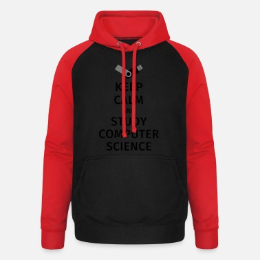 Computer Science Studies keep calm and study computer science - Unisex Baseball Hoodie