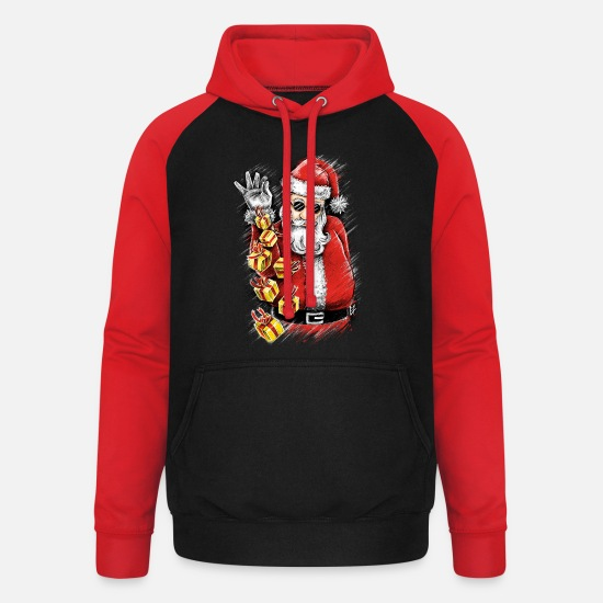 Christmas Hoodies & Sweatshirts - Gift Bae - Unisex Baseball Hoodie black/red