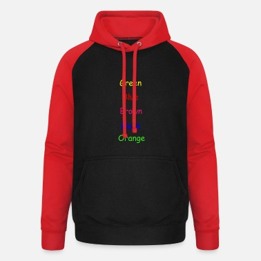 Colors Colors Colorful - Unisex Baseball Hoodie