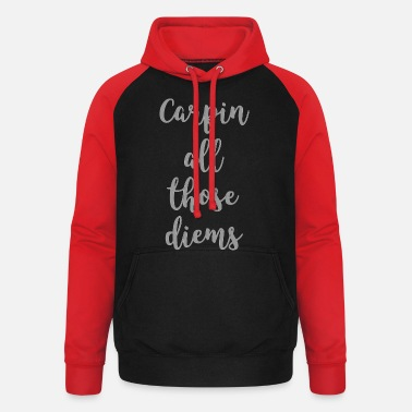 Health Carpe Diem 1 - Sweat à capuche baseball unisexe