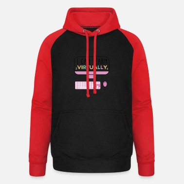 Education Culture I can learn online back to school - Unisex Baseball Hoodie