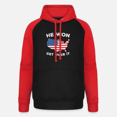 Election He Won Get Over It - Unisex Baseball Hoodie