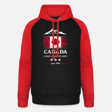 Canada Canada, Ottawa, Maple Leaf Maple Leaf Canada Amérique - Sweat à capuche baseball unisexe