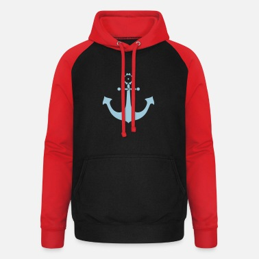 Swimming anchor - Unisex Baseball Hoodie