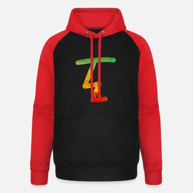 RITZ Face Colorful - Unisex Baseball Hoodie