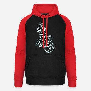 Baar Keeper Ice Cubes Design - Unisex baseball hoodie