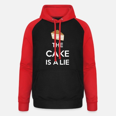 Lie The Cake Is A Lie - Unisex Baseball Hoodie