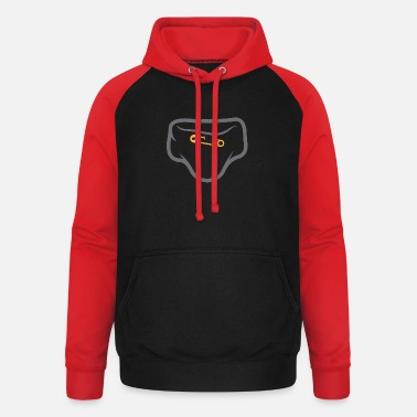 Logo Underwear Diaper With A Safety Pin - Unisex Baseball Hoodie