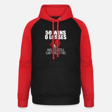 Mayweather 50 Wins 0 Losses Funny Boxing T-Shirt - Unisex Baseball Hoodie