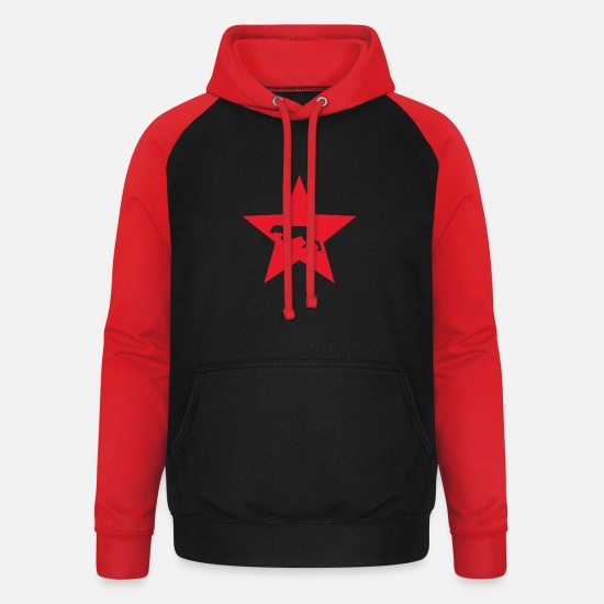 Birthday Hoodies & Sweatshirts - Pointer dog hunting dog Purebred dog - Unisex Baseball Hoodie black/red