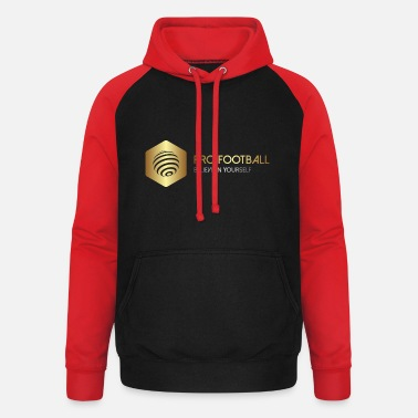 Football Athlete PRO Football, Gold Design 7, Sport Fashion - Unisex Baseball Hoodie
