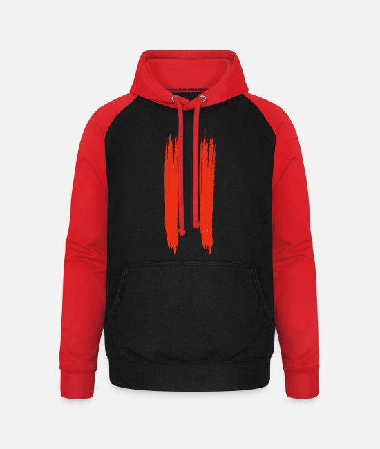 Martial Arts Hoodies & Sweatshirts - red - Unisex Baseball Hoodie black/red