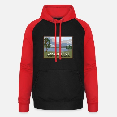 Lake District windermere in the lakes Cumbria - Unisex Baseball Hoodie