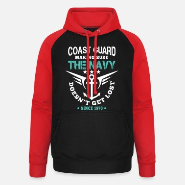 Coast Guard Coast Guard making sure Navy doesn't get lost - Unisex Baseball Hoodie